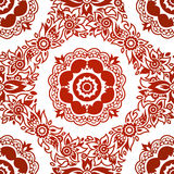 Ornamental seamless pattern with flowers. Royalty Free Stock Photography