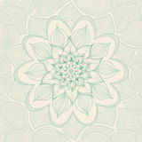 Ornamental seamless pattern with flowers and leaves in retro style. Royalty Free Stock Photography