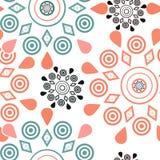Ornamental seamless pattern geometric elements background Stock Photography