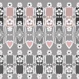 Ornamental seamless pattern geometric elements background Stock Photo