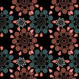Ornamental seamless pattern geometric elements texture backgroun Royalty Free Stock Photo