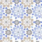Ornamental seamless pattern geometric elements texture backgroun Royalty Free Stock Image