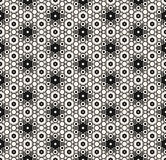 Ornamental seamless pattern with hexagons - Hexagonal ornament. Vector seamless pattern with different sized hexagons. Elegant monochrome geometric ornament stock illustration