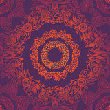 Ornamental seamless pattern with large flowers and curls. Royalty Free Stock Photography