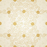Ornamental seamless pattern with small flowers and curls. Light floral background.  It can be used for wallpaper, pattern fills, web page background, surface Royalty Free Stock Image