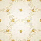Ornamental seamless pattern with small flowers and curls. Light floral background.  It can be used for wallpaper, pattern fills, web page background, surface Royalty Free Stock Photos