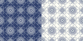 Ornamental seamless pattern with traditional Royalty Free Stock Images
