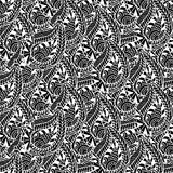 Ornamental seamless pattern. Vector black and white texture. Seamless  template can be use for wallpaper, pattern fills, tex Stock Photos