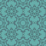 Ornamental seamless pattern. Vintage template. Blue background. Stock Image