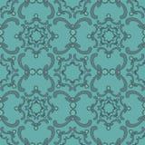 Ornamental seamless pattern. Vintage template. Blue background. stock image