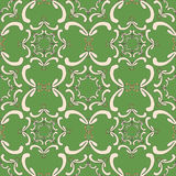 Ornamental seamless pattern. Vintage template. Green background. With curve elements. Filigree texture Royalty Free Stock Images
