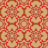 Ornamental seamless pattern. Vintage template. Orange background. Royalty Free Stock Photos