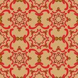 Ornamental seamless pattern. Vintage template. Orange background. Ornamental seamless pattern. Vintage template. Orange background with red curve elements Royalty Free Stock Photos