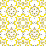 Ornamental seamless pattern. Vintage template. Soft yellow elements. Ornamental seamless pattern. Vintage template. Soft yellow elements on the white background Royalty Free Stock Photos