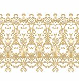 Ornamental  seamless ribbon d in arabic style Royalty Free Stock Images