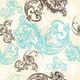 Ornamental seamless wallpaper pattern Royalty Free Stock Photography