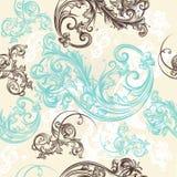 Ornamental seamless wallpaper pattern Royalty Free Stock Photography