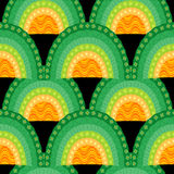 Ornamental seamless waves pattern Stock Image