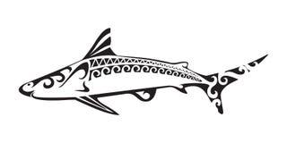 Ornamental shark tattoo Royalty Free Stock Image