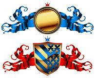 Ornamental shield Stock Images