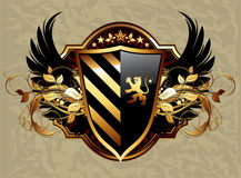 Ornamental shield Stock Photo