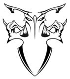 Ornamental shield. Element for design, vector illustration Royalty Free Stock Images