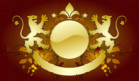 Ornamental shield Stock Photography