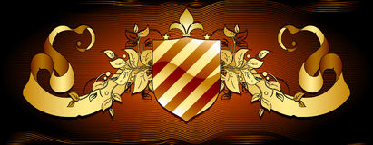 Ornamental shield Stock Photography