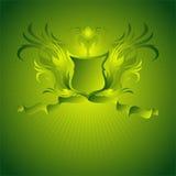 Ornamental shield background Royalty Free Stock Photo