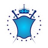 Ornamental shield blue version Royalty Free Stock Photos