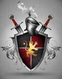 Ornamental shield Stock Image