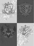 Ornamental shields Stock Image