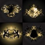 Ornamental shields Royalty Free Stock Photography