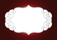 Ornamental silver frame Royalty Free Stock Image