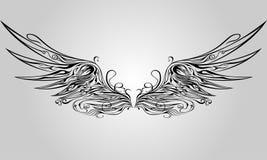 ornamental skrzydło obrazy royalty free