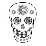 Ornamental Skull Stock Photo