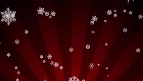 Ornamental Snow on Red Radial Loop stock video footage