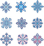 Ornamental snowflakes Royalty Free Stock Photo
