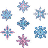 Ornamental snowflakes Royalty Free Stock Image