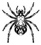 Ornamental spider illustration Stock Photos