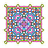 Ornamental square mandala. On white background Stock Image