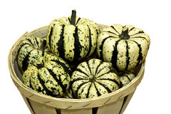 Ornamental squash isolated against white Stock Photo