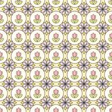 Ornamental stained glass pattern background with floral motive. Raster. Illustration vector illustration