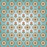 Ornamental stained glass pattern background with floral motive. Raster. Illustration stock illustration