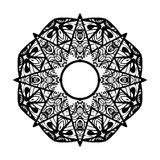 Ornamental star. Round ornament. Ethnic mandala. Vector art Royalty Free Stock Photography