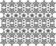 Ornamental Stars Pattern Stock Image