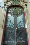 Ornamental steel door. Picture of an ornamental steel door stock images