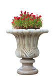Ornamental  stone flowerpot Stock Images