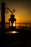 Ornamental Street Lamp On Sunset Stock Images