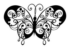 Ornamental style butterfly Royalty Free Stock Photography